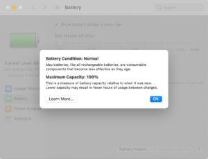 Saúde da Bateria em Macs com chip M1