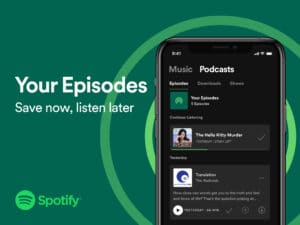 Nova playlist para podcasts do Spotify