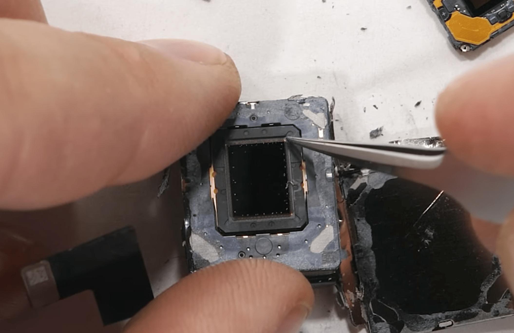 Desmonte e sensor-shift do iPhone 12 Pro Max