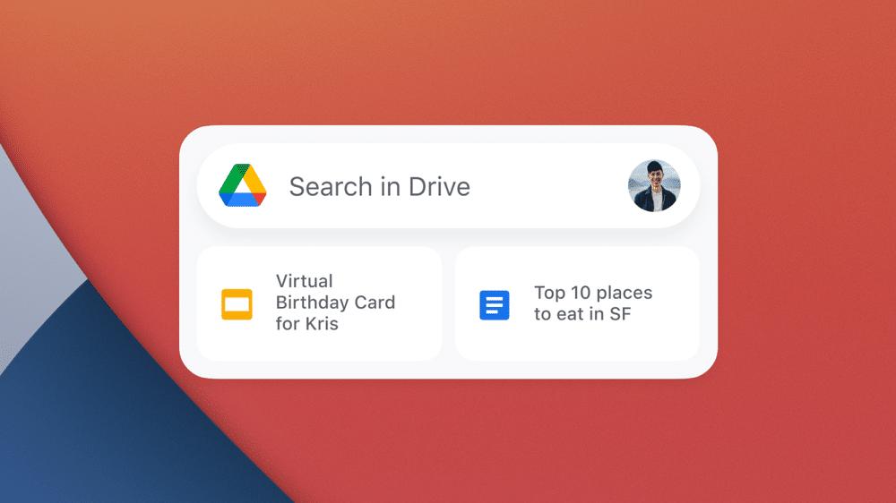 Widget do Google Drive