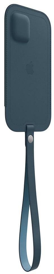 Estojo de couro azul para iPhones 12