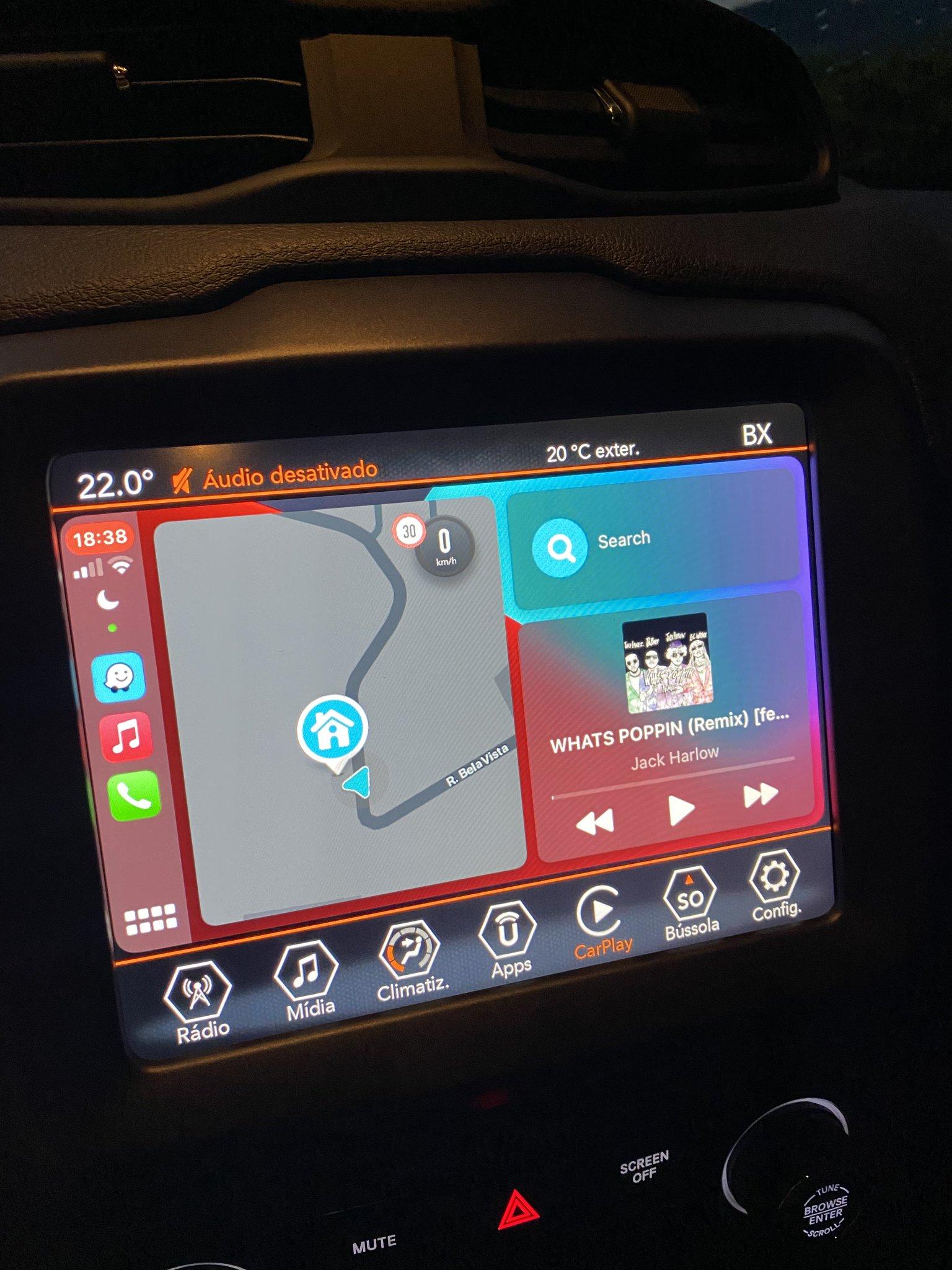 Waze no CarPlay
