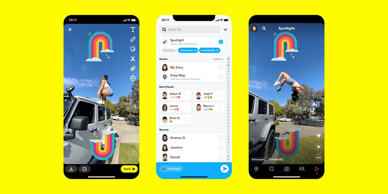 Holofote do Snapchat