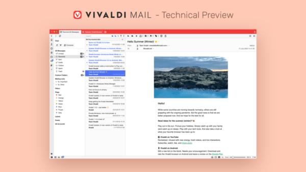 Preview do Vivaldi Mail