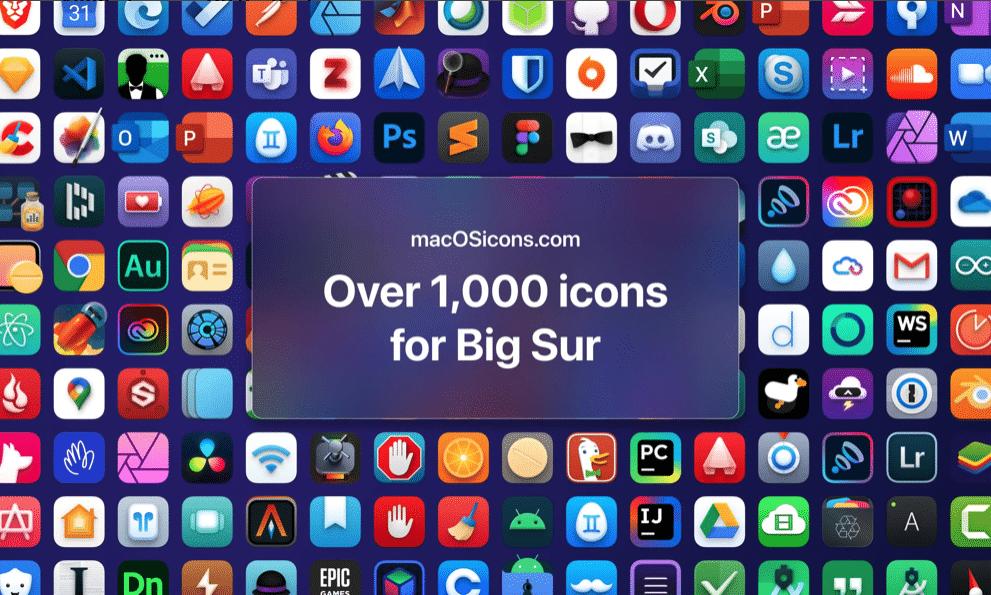 Repositório de ícones macOSicons para o macOS Big Sur