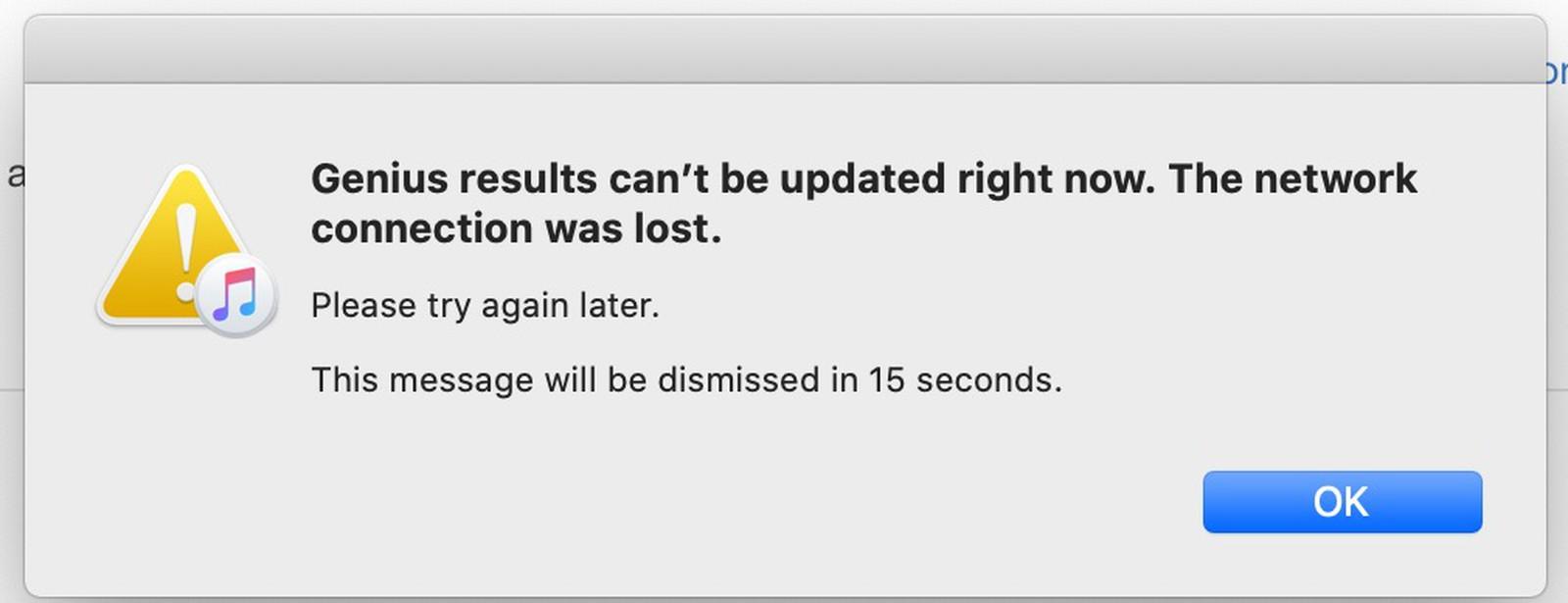 Mensagem de erro do iCloud