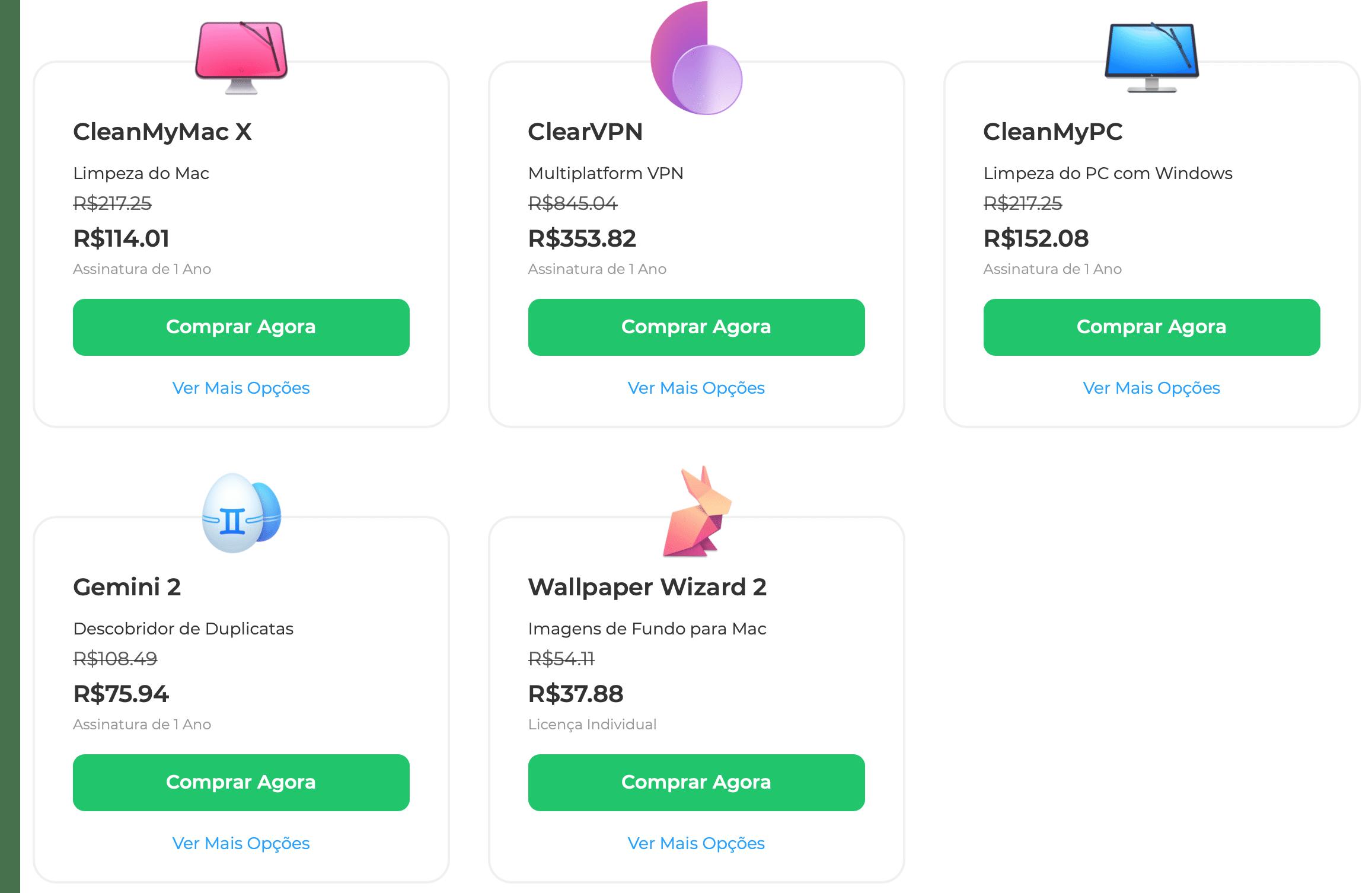 Apps e descontos da MacPaw