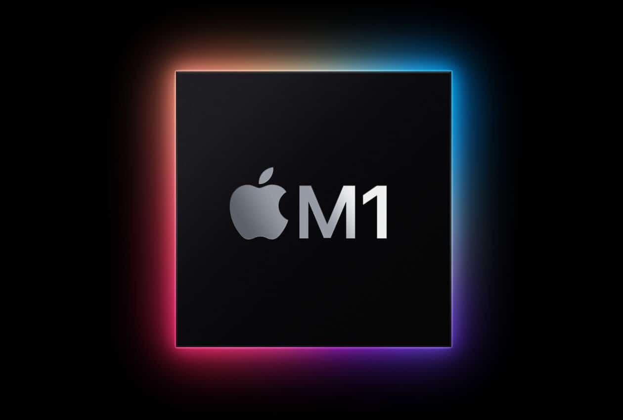 Gráfico oficial do novo chip Apple M1