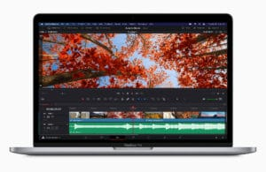DaVinci Resolve rodando num MacBook Pro de 13 polegadas com chip Apple M1
