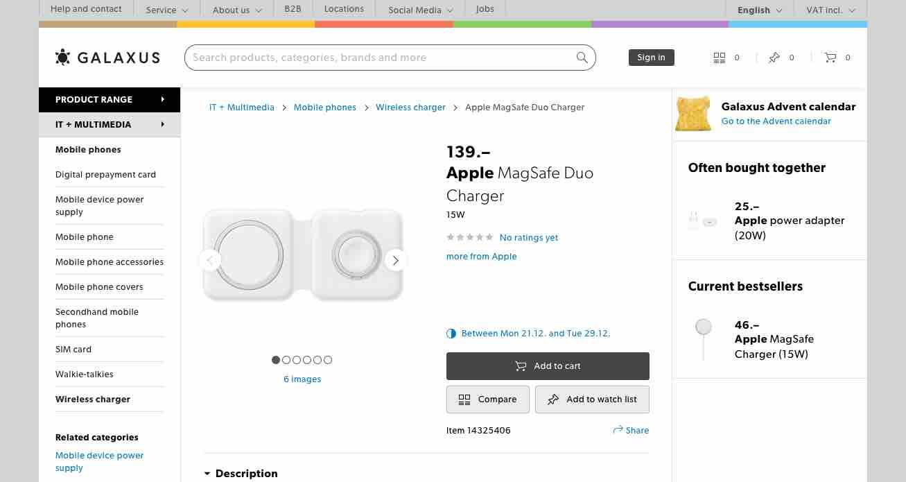 MagSafe Duo em pré-venda na loja suíça Digitec Galaxus