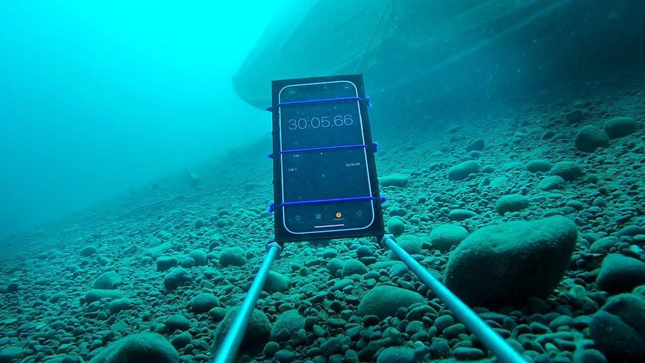 Teste de água com o iPhone 12