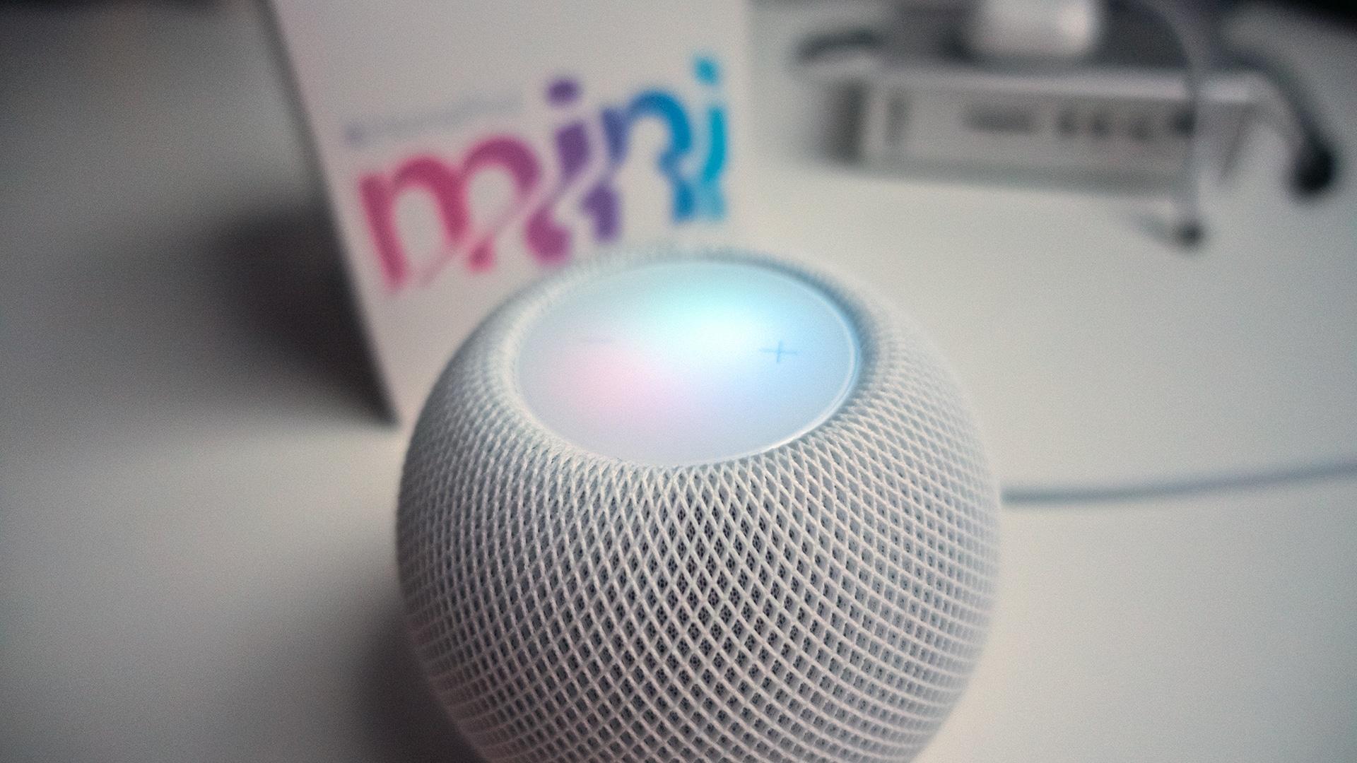 Unboxing do HomePod mini