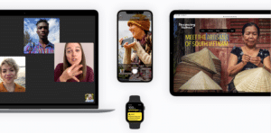 Banner do site de acessibilidade da Apple