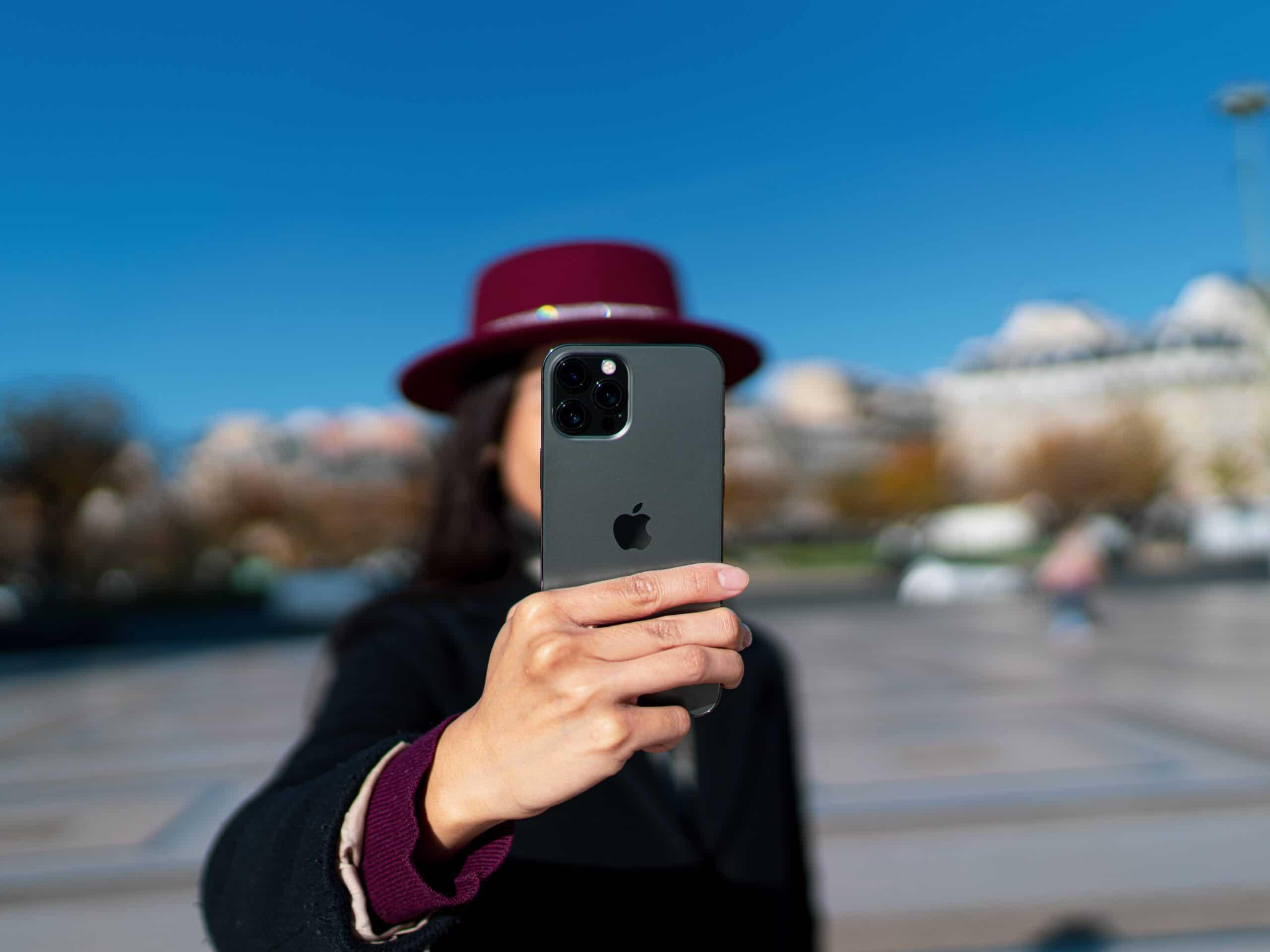 Selfie com o iPhone 12 Pro Max