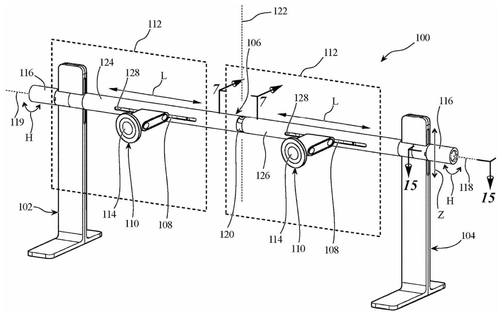 Patente de stand duplo para o Pro Display XDR