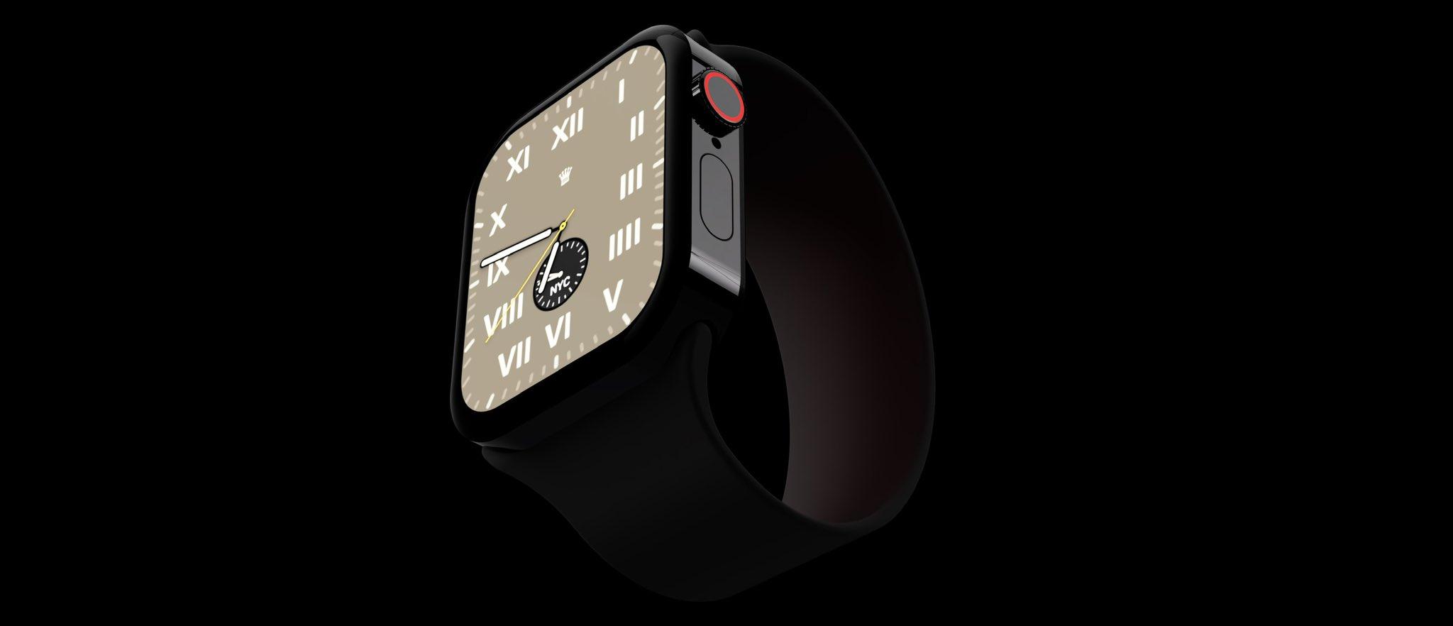 """Conceito de """"Apple Watch Series 7"""""""