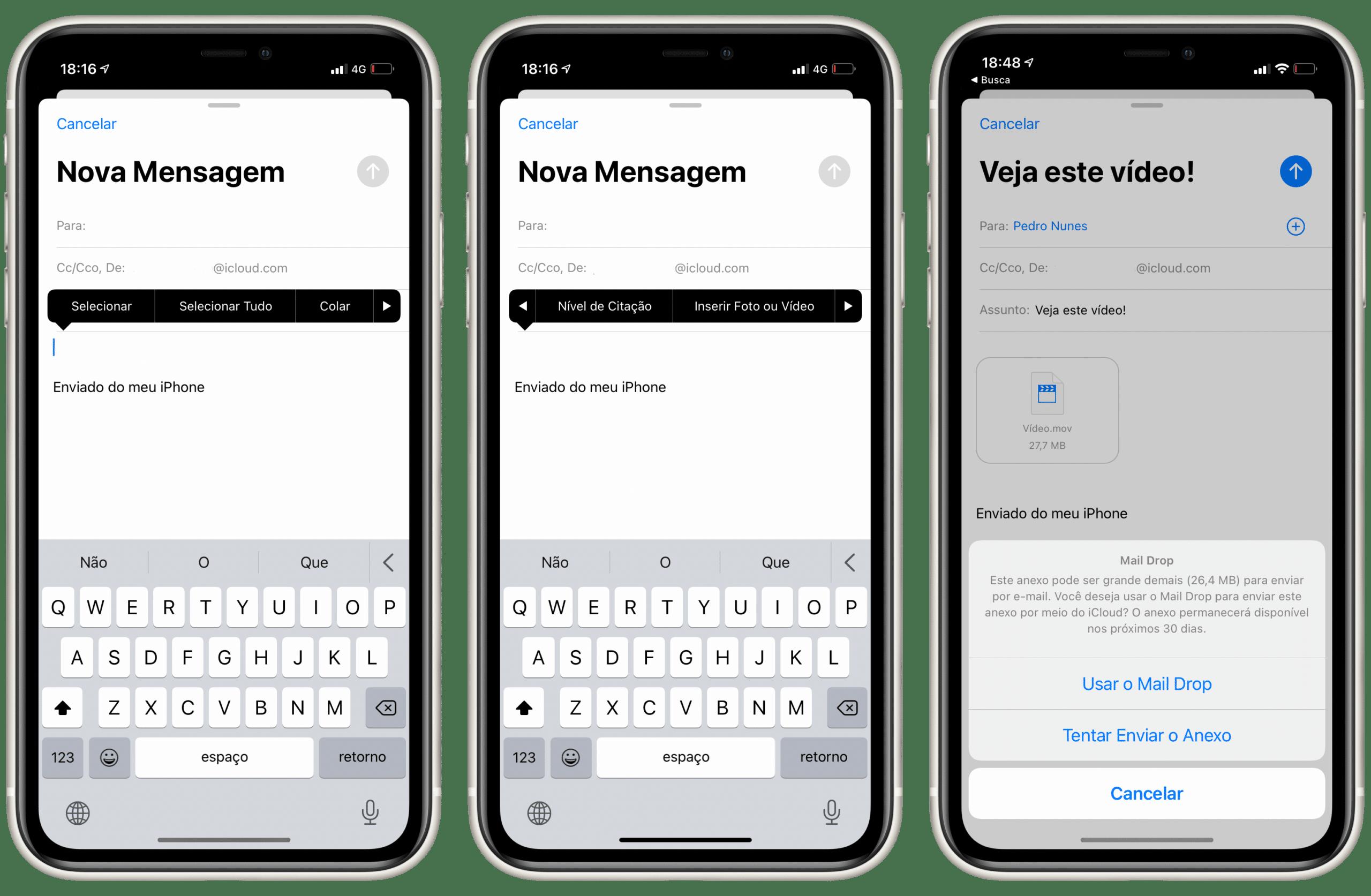 Mail Drop no iOS 14