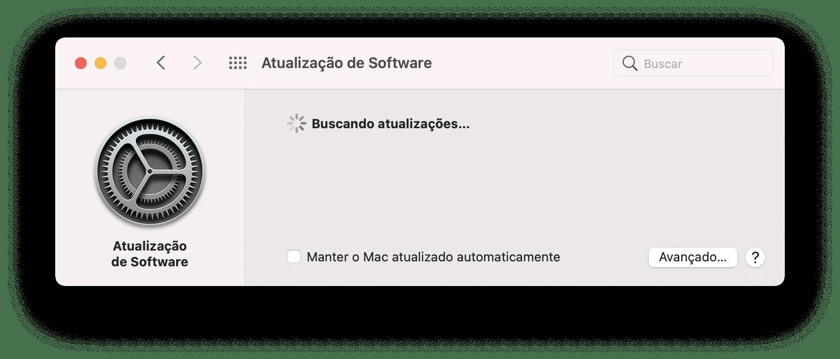 Atualização do macOS Big Sur
