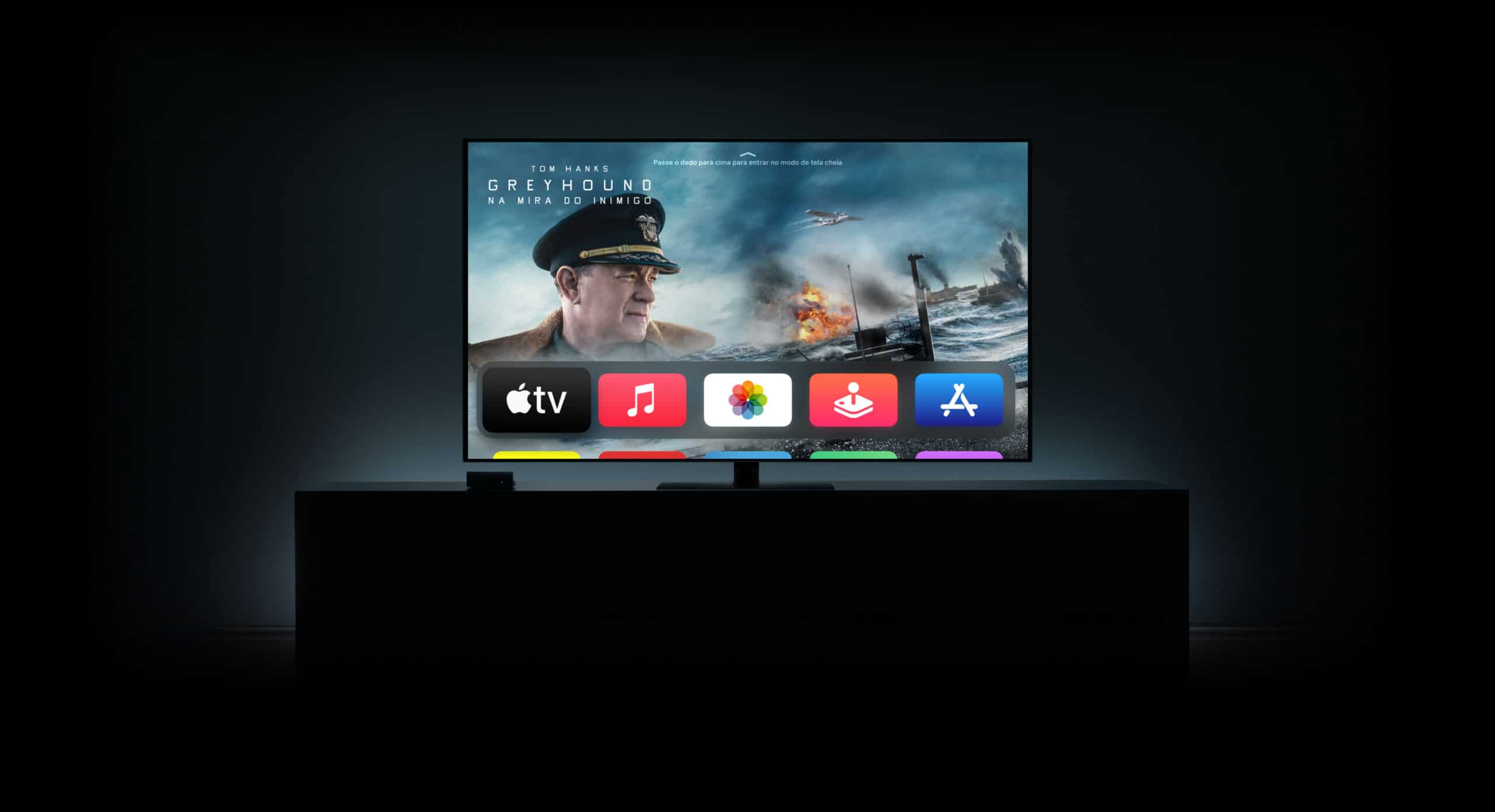Apple TV rodando o tvOS