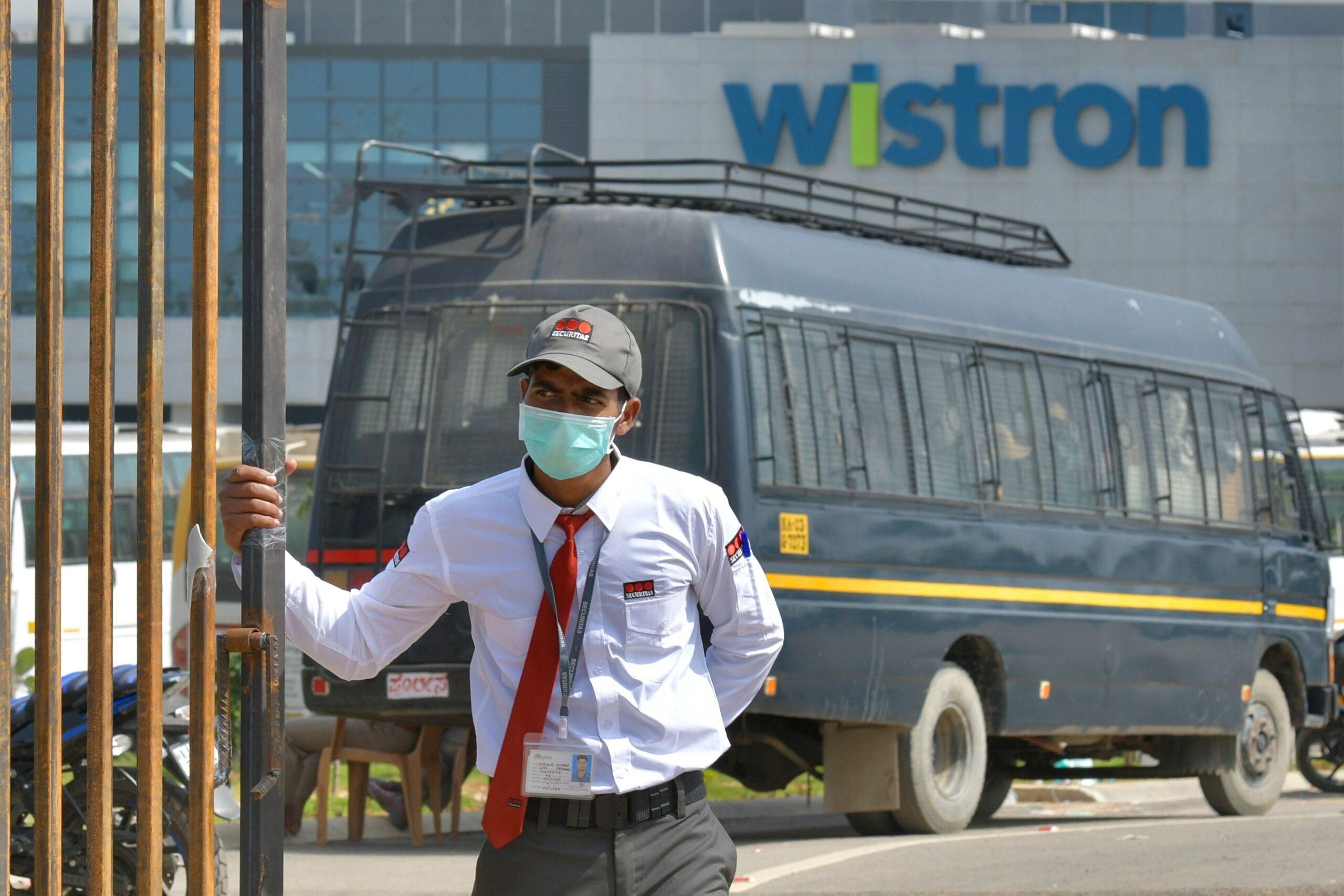 Fábrica da Wistron na Índia