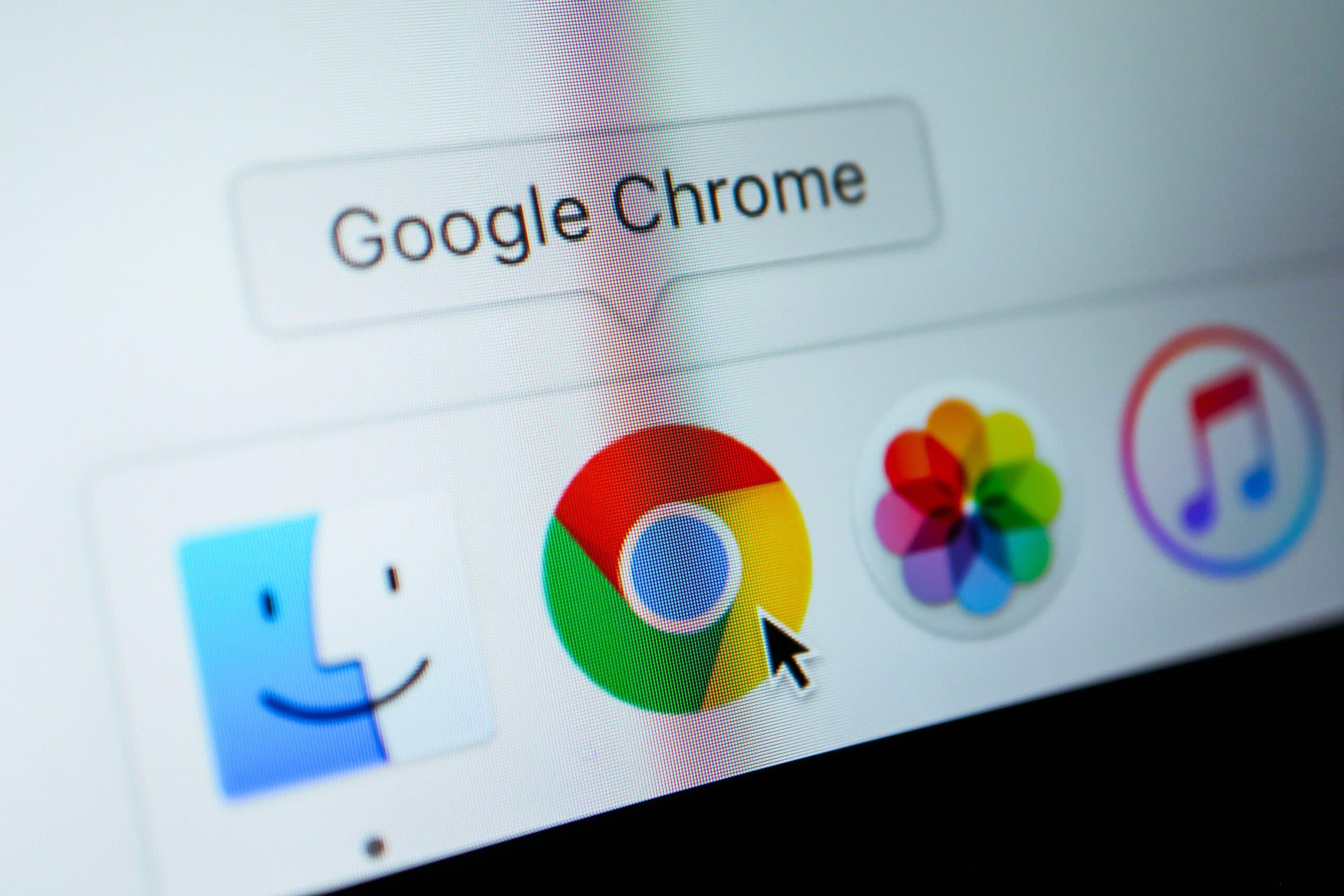 Ícone do Google Chrome no Dock do macOS