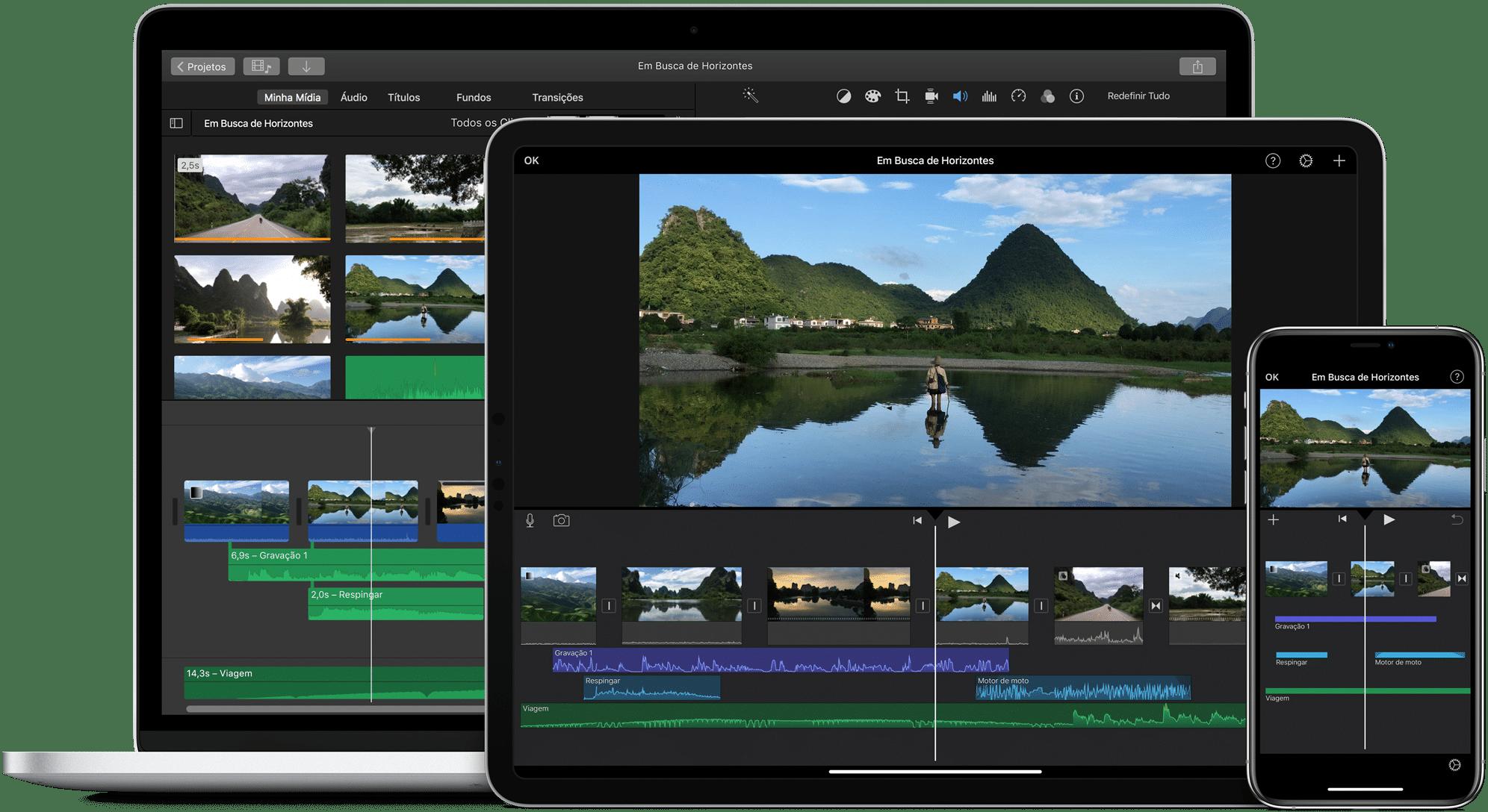 iMovie para macOS, iPadOS e iOS