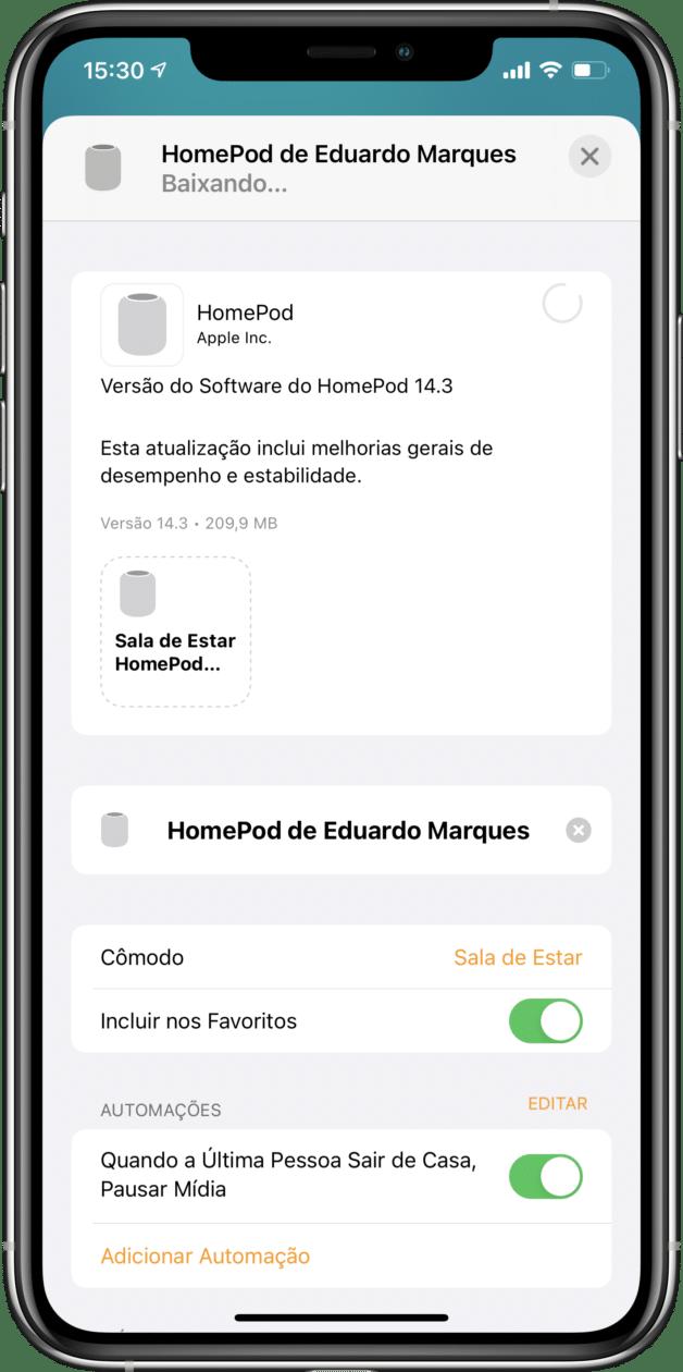 Software do HomePod 14.3