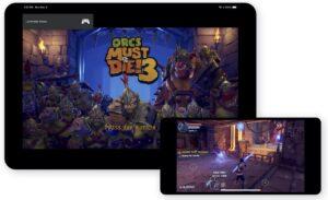 Web app do Google Stadia no iPhone e iPad
