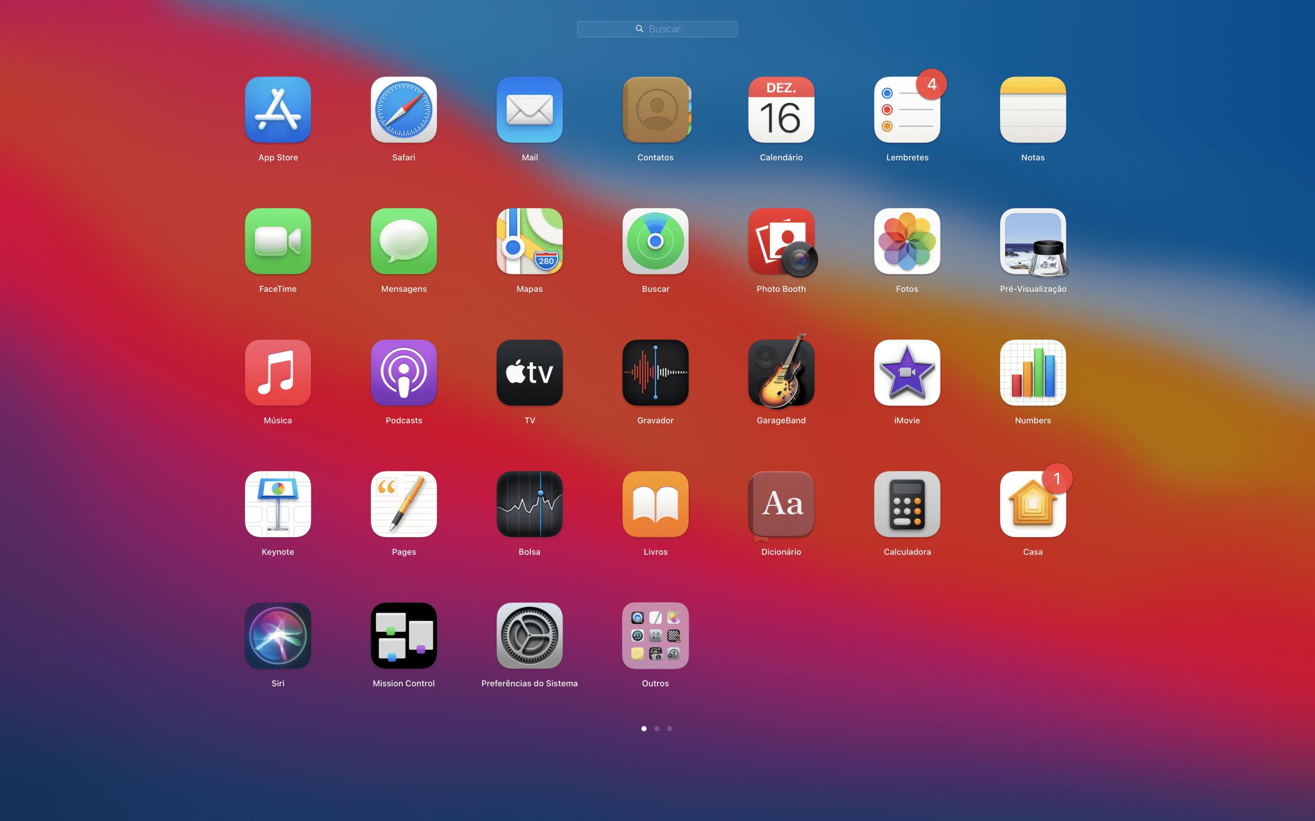 Launchpad no macOS Big Sur