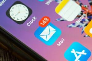 Ícone do app Mail no iPhone