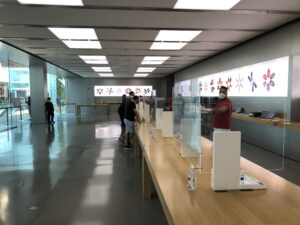 Apple VillageMall modificada por conta da pandemia do novo Coronavírus (COVID-19)