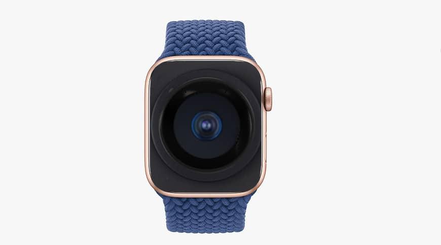 Conceito de câmera sob display do Apple Watch