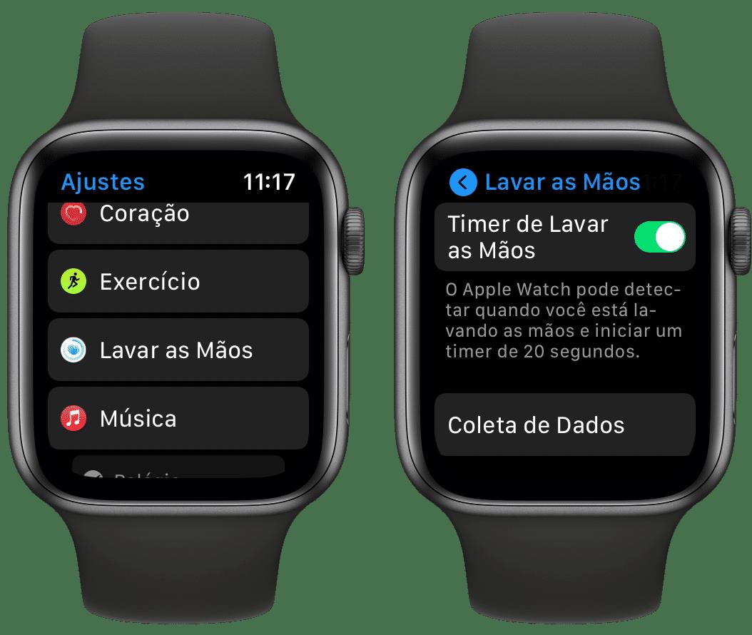 """Recurso """"Lavar as Mãos"""", no Apple Watch"""