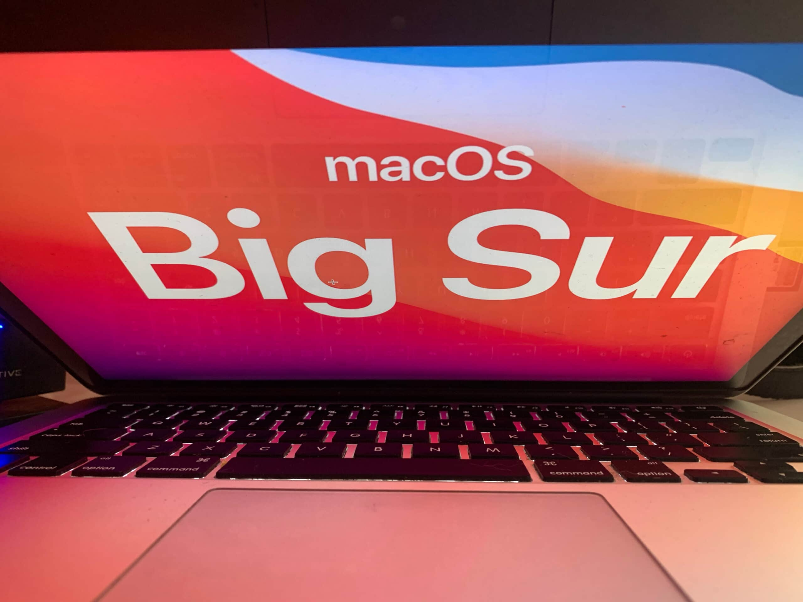 macOS Big Sur em MacBook