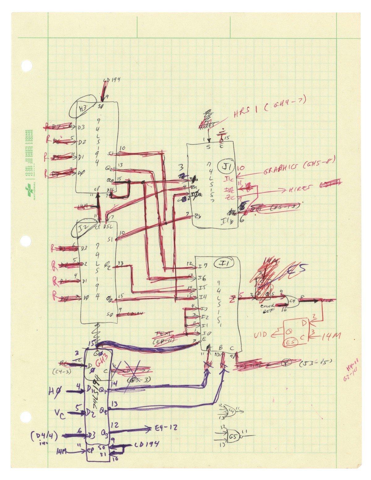 Manuscrito de Steve Wozniak do Apple II
