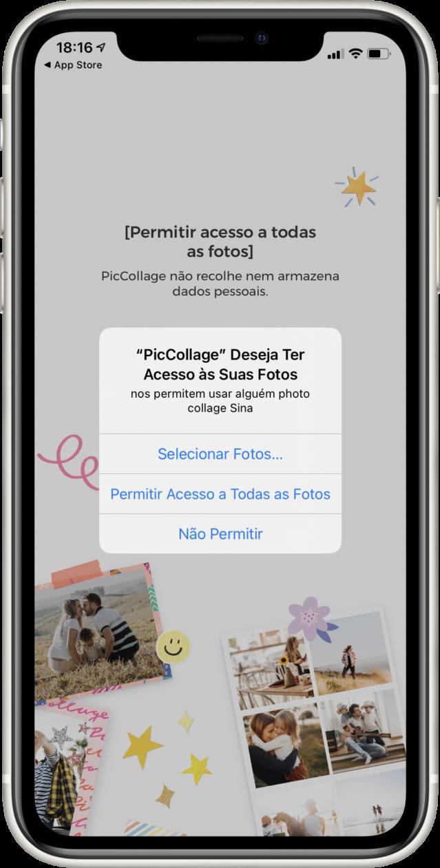 Permissão para acessar fotos no iOS 14