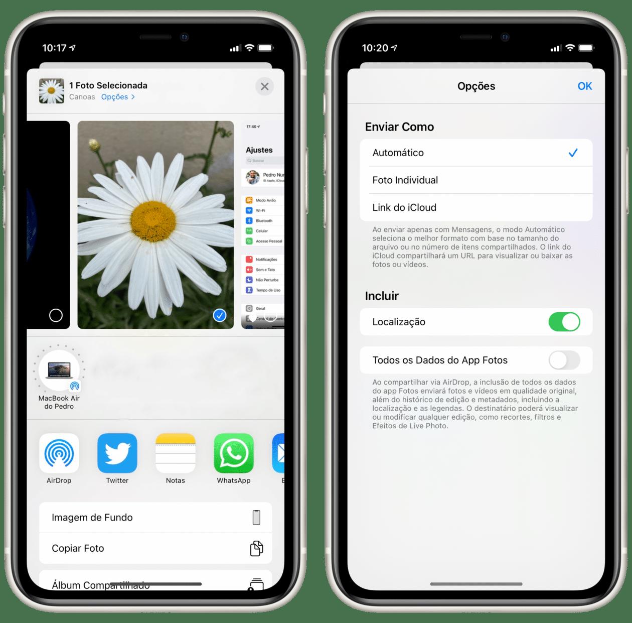 Removendo a localização de uma foto no iOS