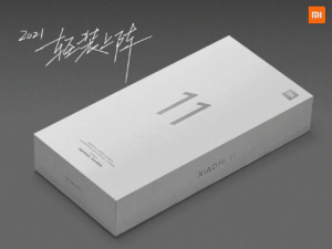 Caixa mais fina do Xiaomi Mi 11
