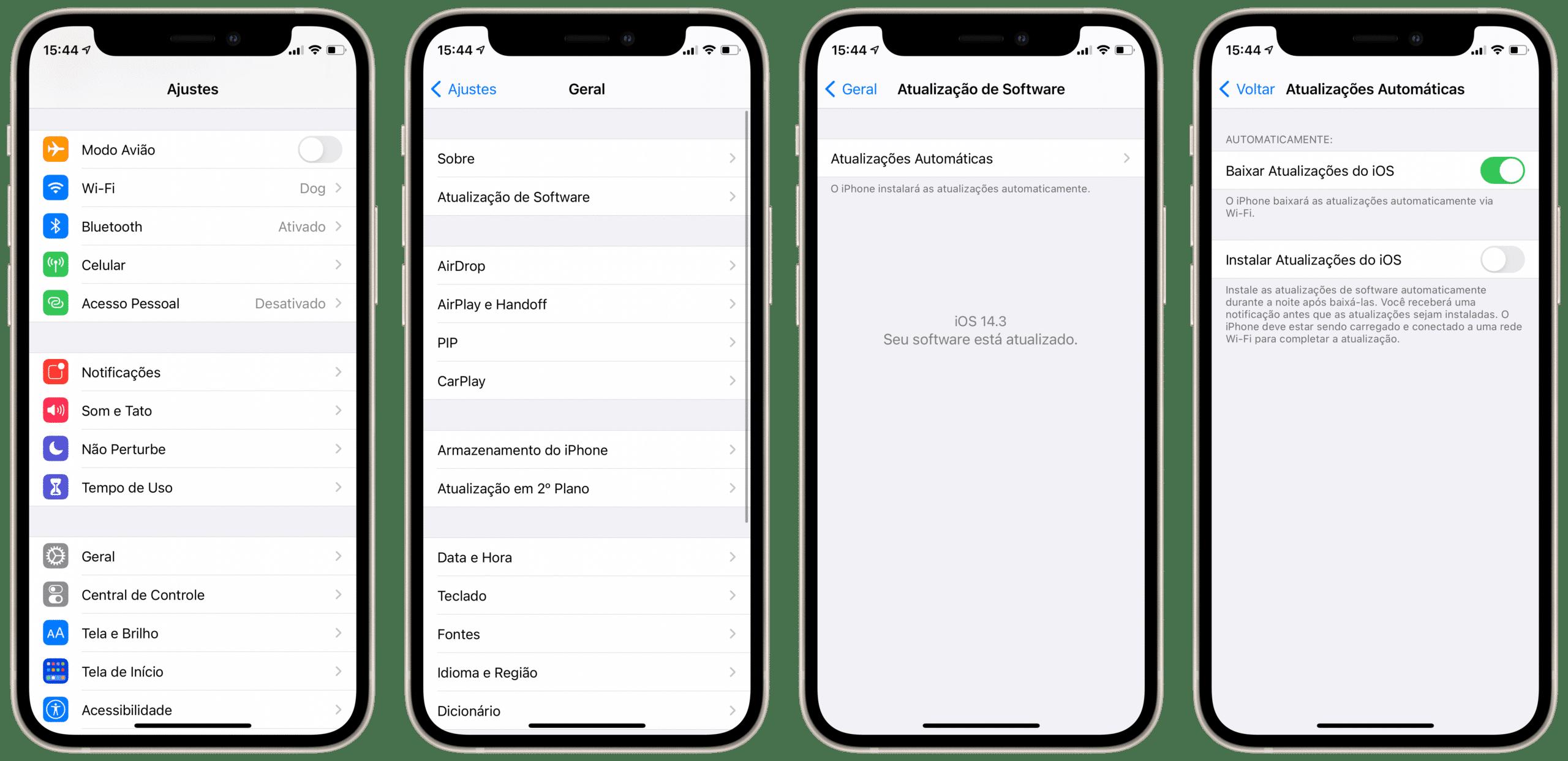 Atualização de software no iOS