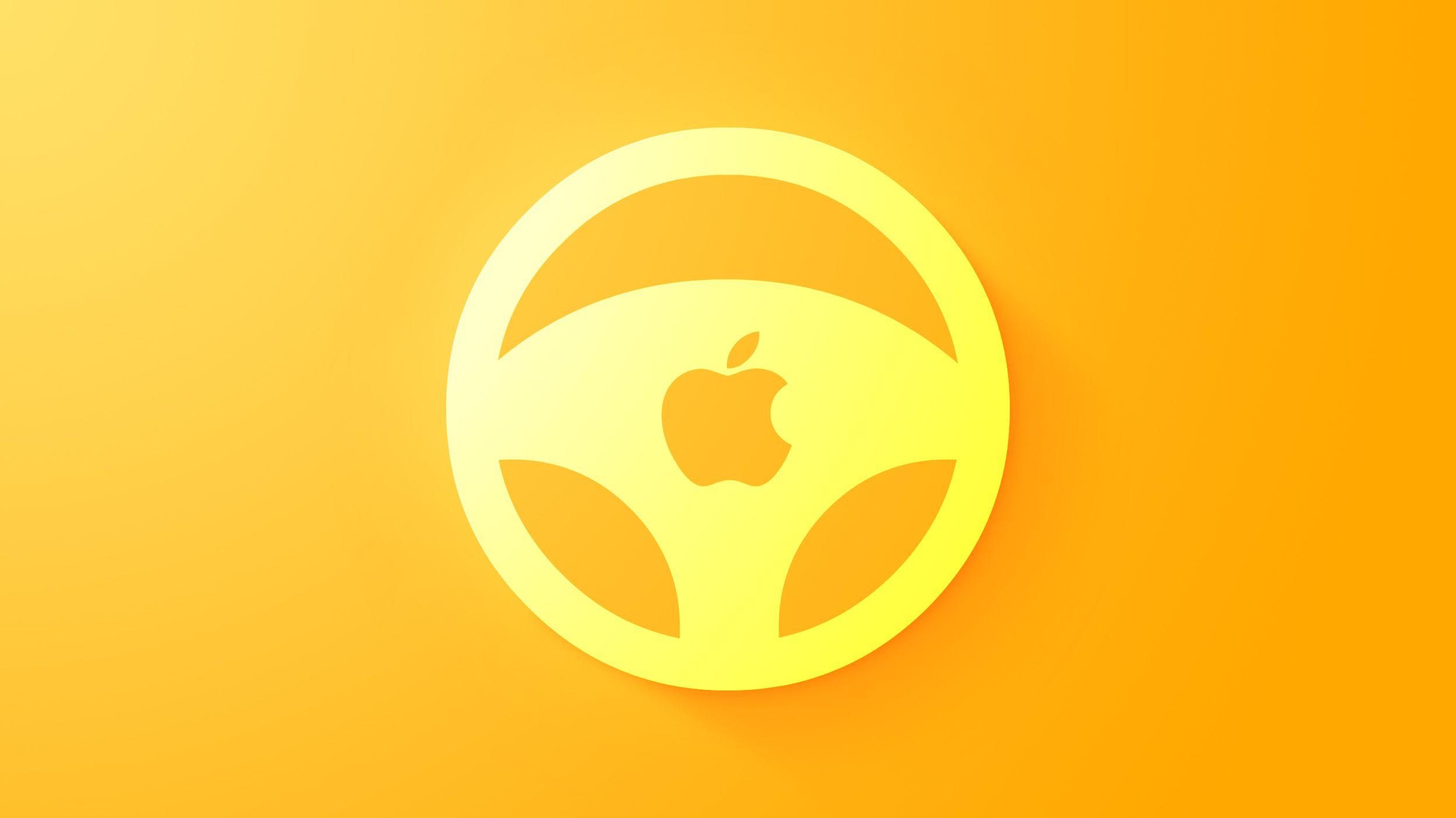 """Design de logo do volante do """"Apple Car"""""""