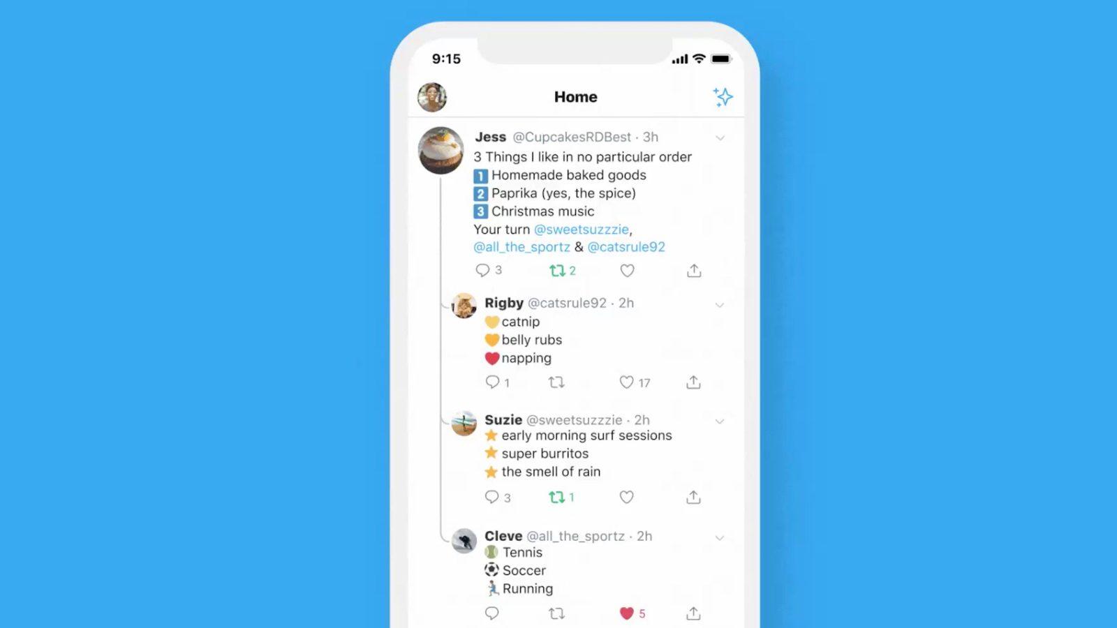 Respostas em threads no Twitter