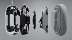 Interior expandido dos AirPods Max