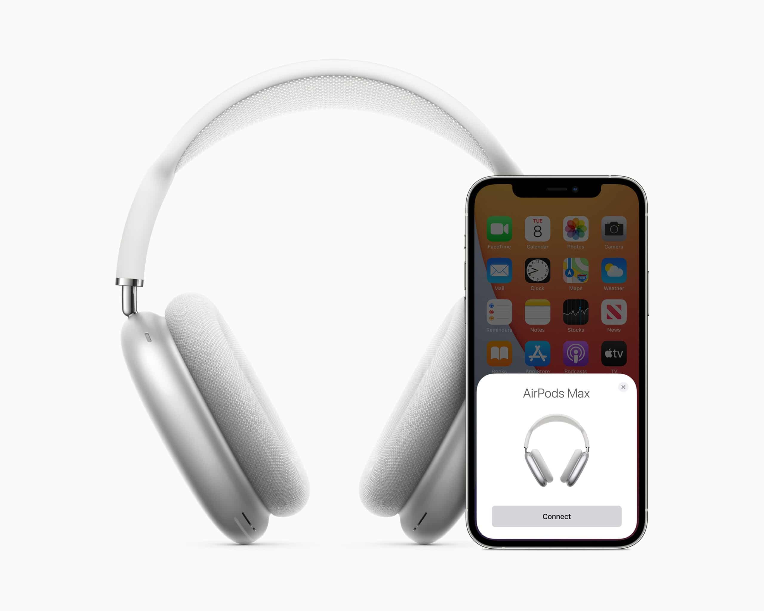 Emparelhamento dos AirPods Max com iPhone 12