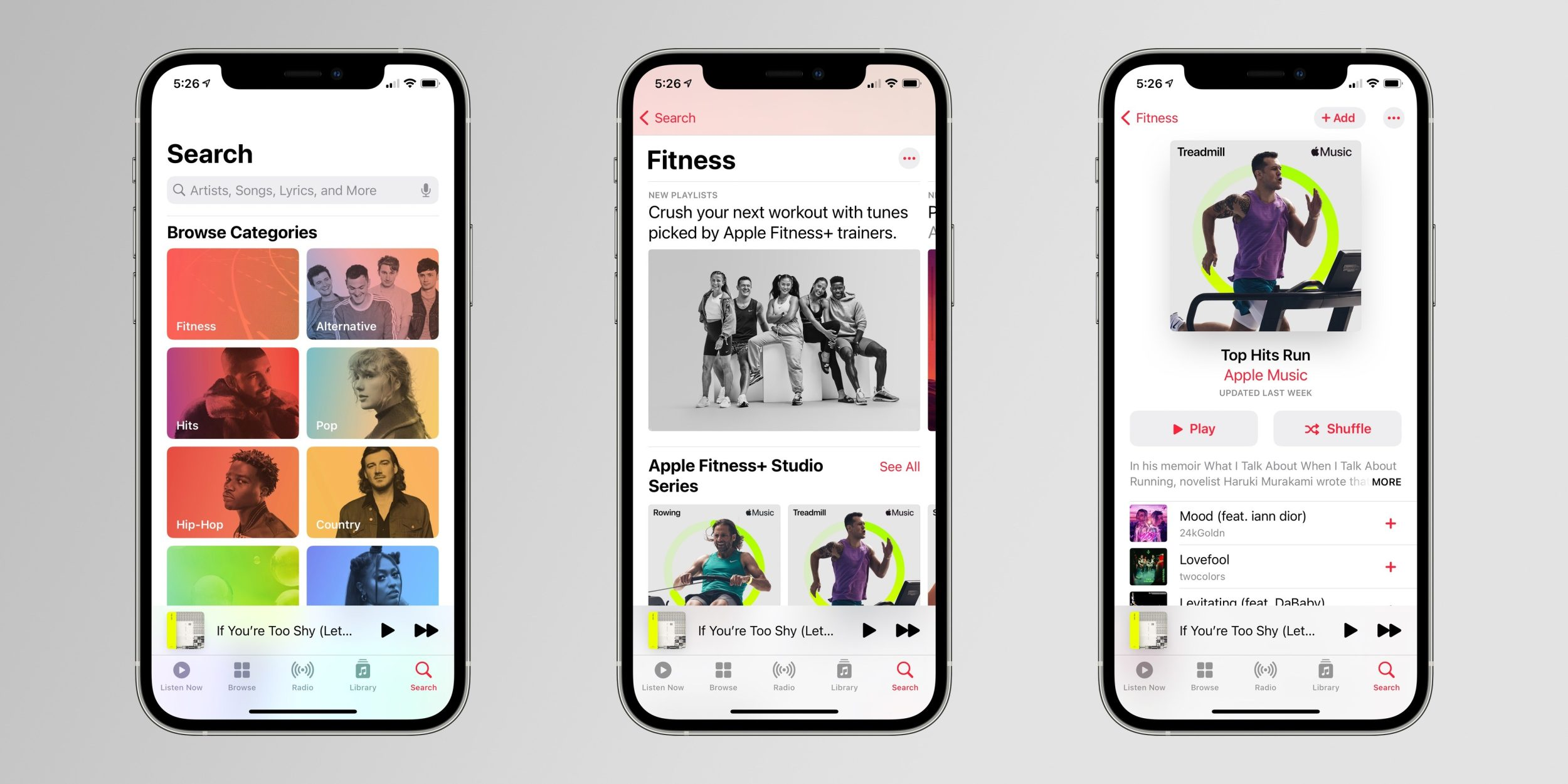 Playlists do Apple Fitness+ no Apple Music