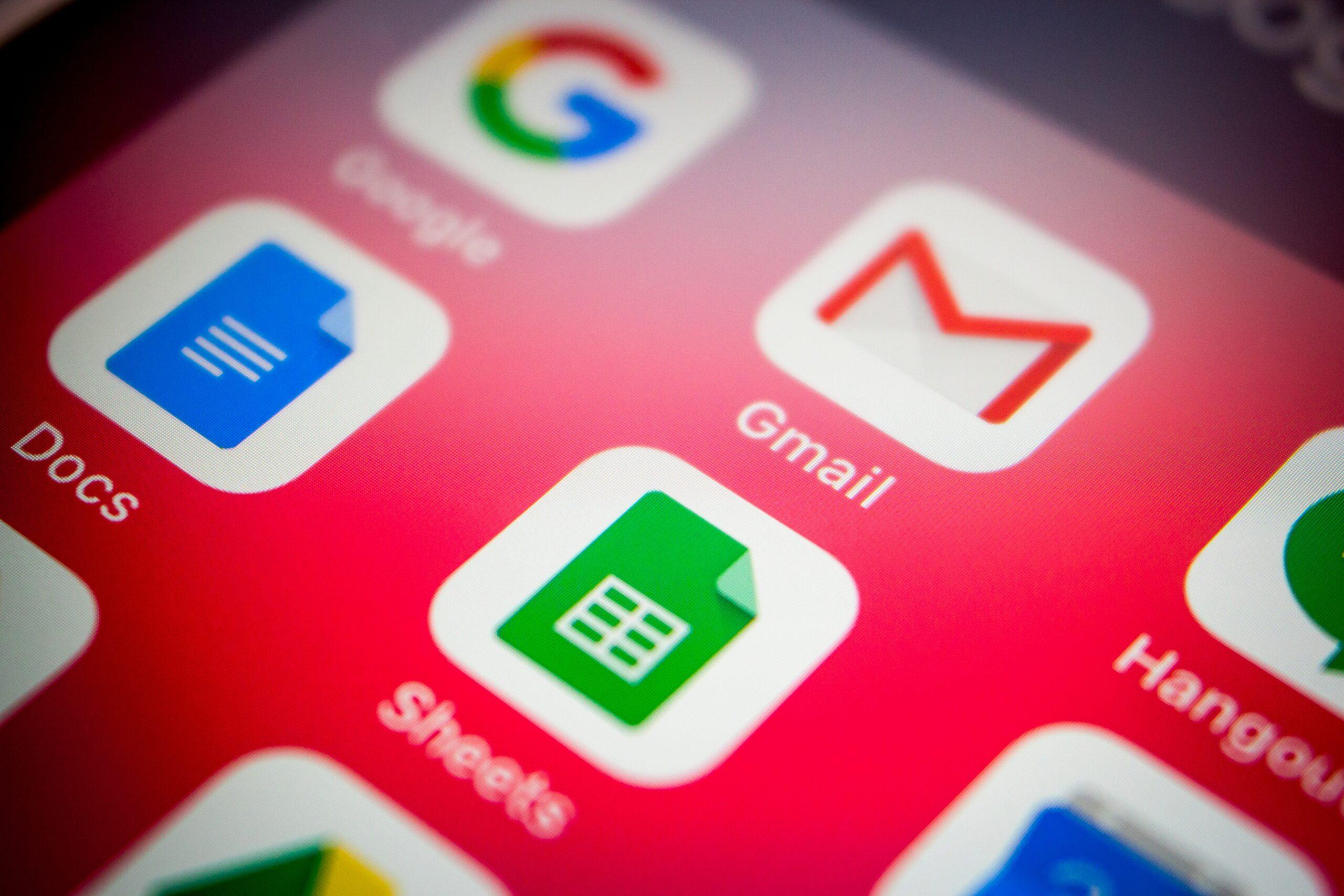Ícones de apps do Google para iOS