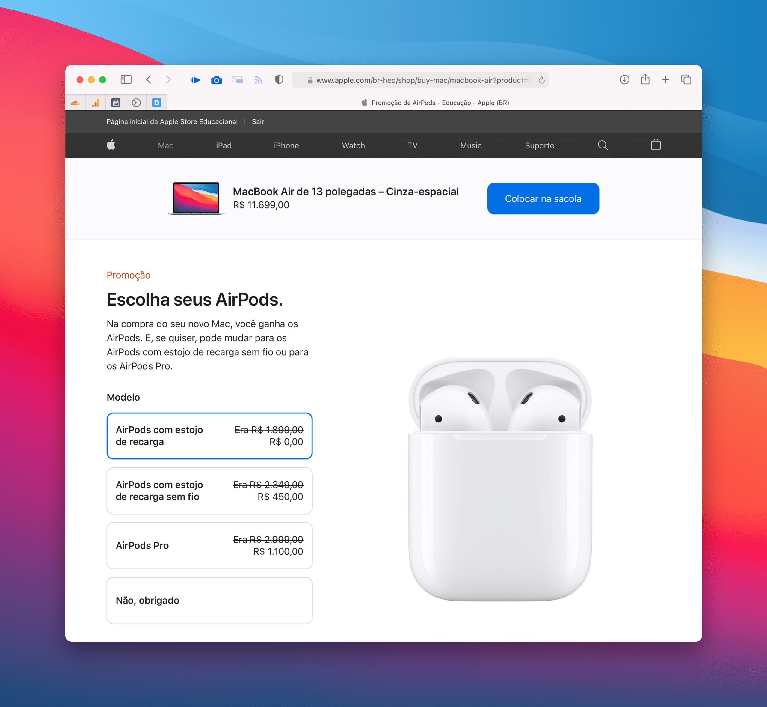 """Promoção """"Volta às Aulas"""" da Apple"""