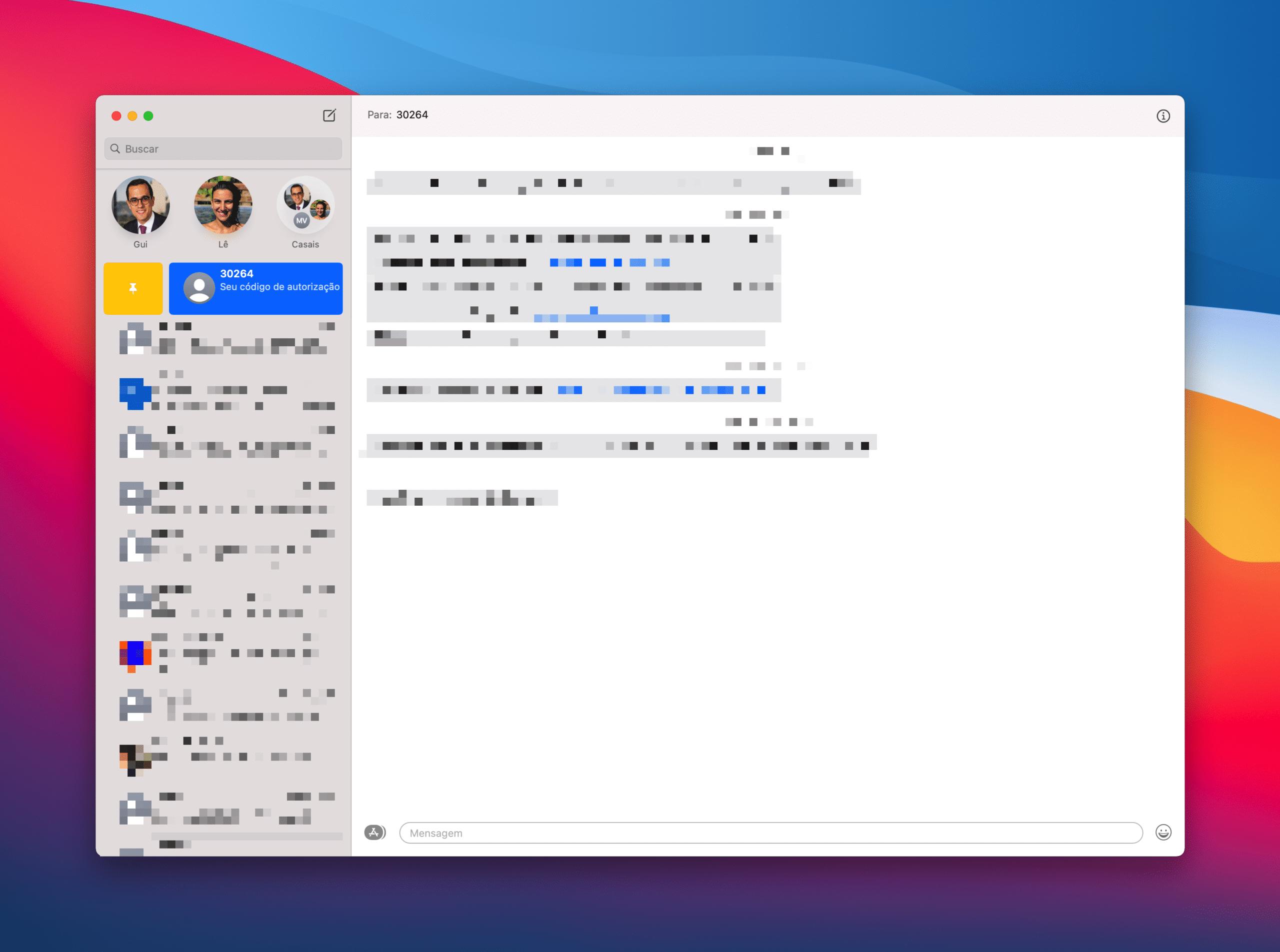 Fixando mensagens no Mac