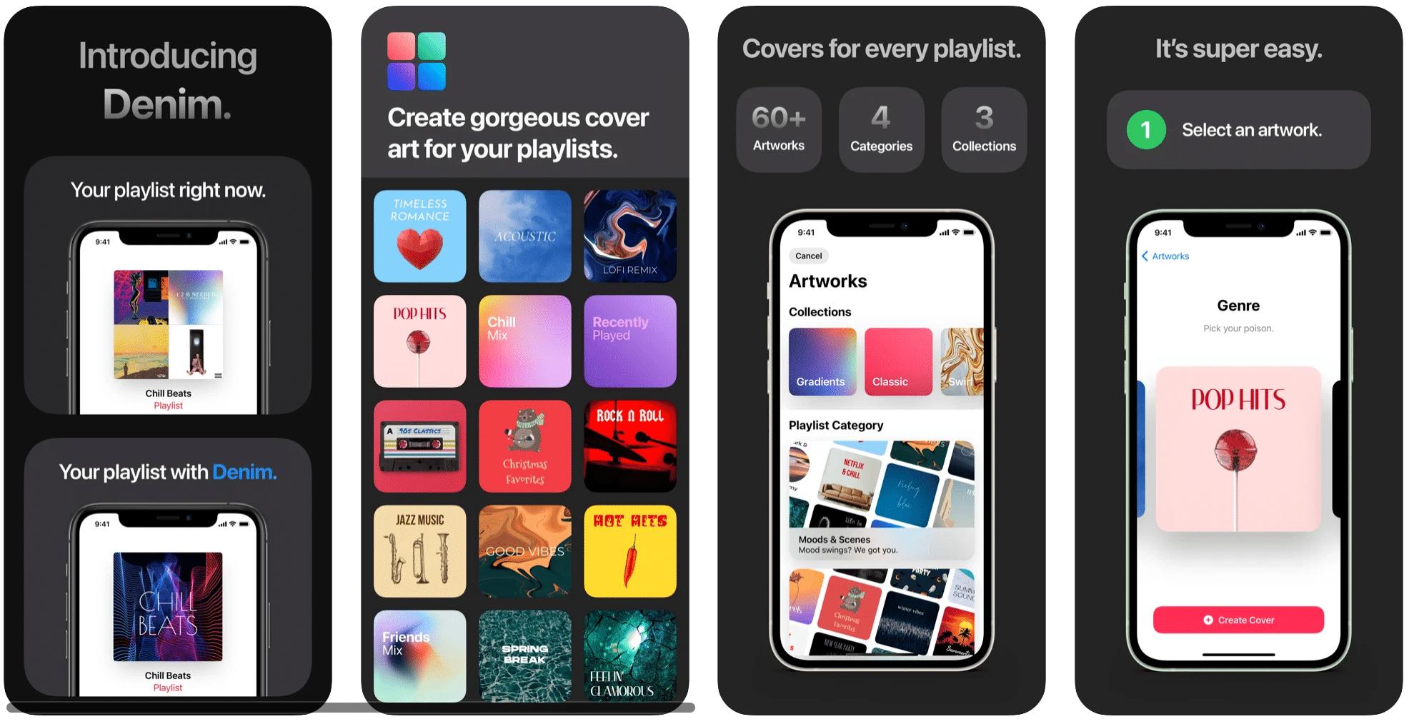 Denim, app para iPhone para criar capas de playlists