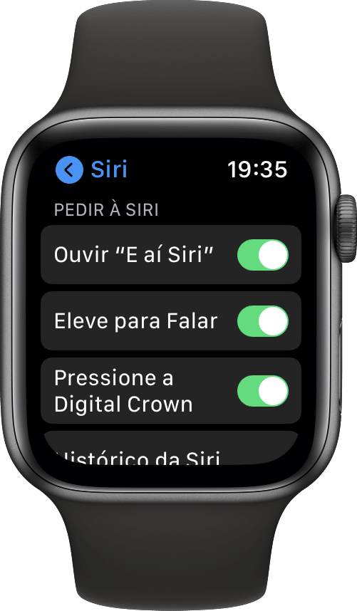 Elevar para Falar no Apple Watch