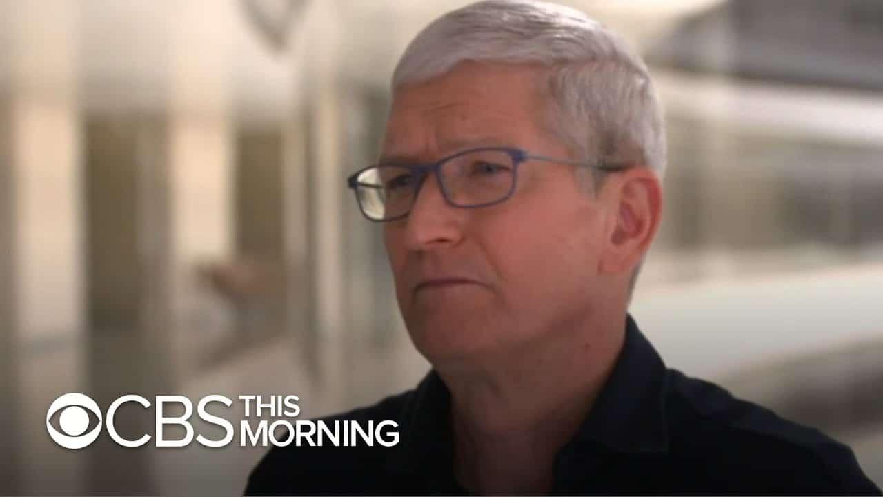 Entrevista de Tim Cook para o CBS This Morning